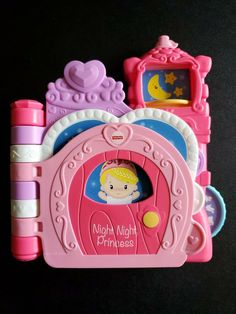 Fisher Price Disney Night Night Princess Talking Interactive Baby Toy Book Pink #FisherPrice Fisher Price Baby Toys, Animal Puzzle, Toy 2, Vintage Fisher Price, Night Night, Puzzle Toys, Childhood Toys, Vintage Disney, Baby Disney