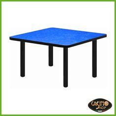 ART.0135 Tavolo da burraco. Tavolo da gioco con gambe di metallo dal ...