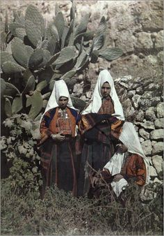 Gervais Courtellemont - Portrait of christian women in Palestine wearing veils