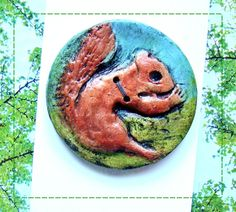 Jumbo Squirrel Button. $10.95, via Etsy. But I need 2!