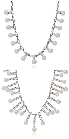 Get your Pearl and Crystal on with these fantastic Crystal & Synthetic Pearl Piano necklaces! #crytalandpearlnecklaces #syntheticpearlandcrystalnecklaces #pearlandcrystaljewelry
