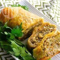 Knapperige groenterol met spruitjes en feta @ allrecipes.nl