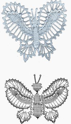 Enchanted Weave: Butterflies crochet (diagrams) - 11 butterfly patterns - use google translate