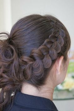 Dutch pancake braid with messy bun