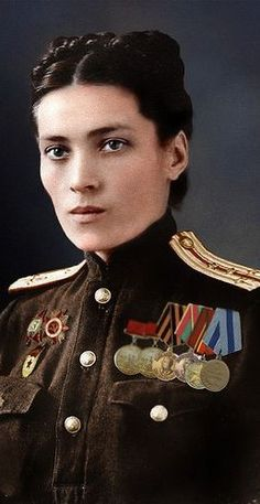 Female Captain in Medical Services of the Soviet army, 1945. A woman such as this one saved one of my aunt's life as a child. She also shot dead two of her own who raped a local woman and warned the rest the same awaited them if anyone else touched a single girl or woman in the village or anywhere else.   flickr  by klimbims