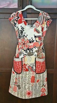 Diy Clothing, Clothing Patterns, Sewing Patterns, Sewing Aprons, Sewing Clothes, Dottie Angel, Angel Dress, Granny Chic, Tunic Pattern