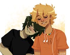 And my hunger for solangelo has been temporarily sated. Percy Jackson Fandom, Percy Jackson Ships, Percy Jackson Fan Art, Percy Jackson Books, Annabeth Chase, Solangelo Fanart, Percabeth, Will Solace, Rick Riordan Series