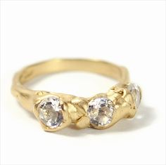 Cave 3 Stone Quartz Treasure Ring by Ruth Wood. If you are looking to commission a wedding ring or engagement ring be sure to try our Gift Guru. We can introduce you to some fab new makers and offer advice. Call 01142216494 ever Wednesday or go to our website for the online service.