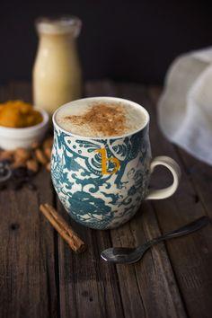 Pumpkin Spice Latte {Dairy-free} made with a homemade Pumpkin Spice Almond Milk // Tasty Yummies I Love Coffee, Real Coffee, Coffee Break, Iced Coffee, Morning Coffee, Coffee Shop, Coffee Cups, Chocolate, Spiced Almonds