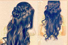 ★BOHO SPRING LONG HAIRSTYLES| EASY HALF-UPDO WRAP-AROUND BRAID FOR SCHOOL CURLY LONG HAIR TUTORIAL