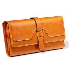 Women's Genuine Leather Wallet Real Cowhide Organizer Wallets for Women Long Design Woman Purse Credit Card Holder Phone Clutch - Fatekey Buy Wallet, Rfid Wallet, Large Wallet, Clutch Wallet, Leather Wallet, Cheap Purses, Cute Purses, Gucci Handbags, Purses And Handbags