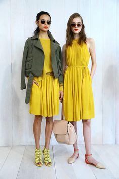 Neon frocks and army jackets // Banana Republic Summer 2015