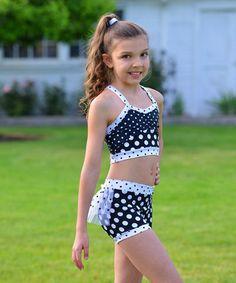 Lexi Luu Designs Dance Gymnastics Outfit Fringe Crop Top Booty ...