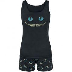 "Walt Disney Pyjama, Women ""Alice im Wunderland - Smile"" black Pyjamas, Sexy Pajamas, Lazy Day Outfits, Casual Outfits, Pijamas Women, Cute Pjs, Disney Pajamas, Lingerie, Comfortable Fashion"