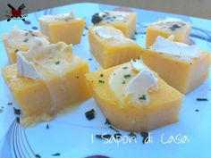 Crostini di polenta al tartufo con Brie