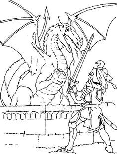 Knight On Horseback With A Princess Coloring Page