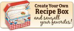 Create your Own Recipe Box