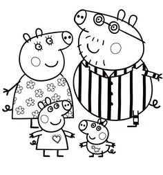 peppa pig family coloring pages Nick Jr Coloring Pages, Peppa Pig Coloring Pages, Family Coloring Pages, Christmas Coloring Pages, Printable Coloring Pages, Colouring Pages, Coloring Pages For Kids, Coloring Books, Kids Colouring