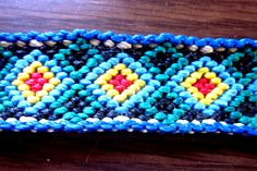 Diamond  Friendship Bracelet Geometric Macrame Bracelet Woven Friendship Bracelet by TheGringaHippie on Etsy