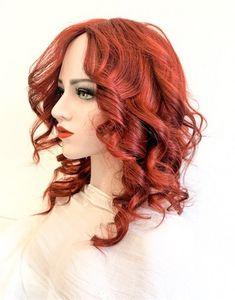 Model ARABELA #106-Peruca par natural mediu roscat | Peruci.ro | Peruci.ro Human Hair Wigs, Wig Hairstyles, Nasa, Long Hair Styles, Model, Beauty, Long Hairstyle, Scale Model