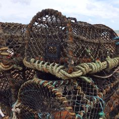 Fishing lobster pots. On the beach at Deal. #deal #fisherman #lobster