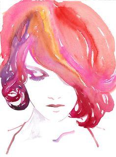 Watercolour Fashion Illustration 11 x 17 by silverridgestudio. $75.00, via Etsy.