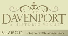 The Davenport - Event Rental Space - Greer SC (thought for Brittany)