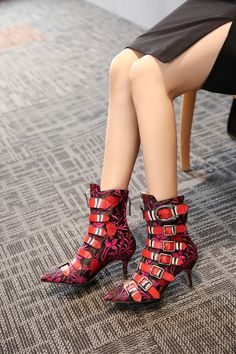 65c59a0d1fb FY Zoe kitten heel ankle boots with buckles Kitten Heel Ankle Boots