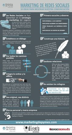 Estrategias para mejorar tu comunicación en Redes Sociales #infografia #infographic #socialmedia