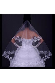 Véus de Noiva De uma camada Bordado Tule