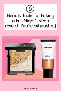 6 Beauty Tricks for Faking a Full Night's Sleep (Even If You're Exhausted) Beauty Tips, Beauty Hacks, Best Highlighter, Best Makeup Products, Beauty Products, Best Moisturizer, Younger Looking Skin, Best Anti Aging, Real Simple