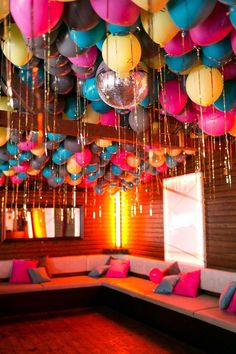 Could be fun in the bar room. Not sure if the balloons would hold up near the light fixtures.