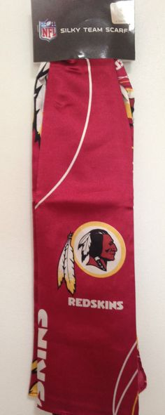 "WASHINGTON REDSKINS LOGO New 34"" x 34"" Women's Silky Team Scarf #NFL #WashingtonRedskins"