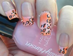 """Girly Cheetah"" nail art by Tawnee L Cordova. Please follow me on Pinterest & like my page on Facebook to see more designs!"