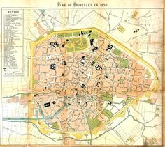File:Brussel 1830.reduced.tif Charlotte Bronte, Vintage World Maps, Brussel, Europe, Pictures, Cards, Photos, Drawings