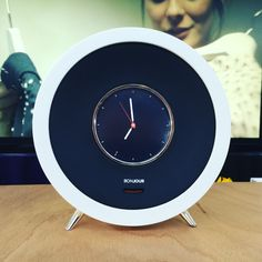 Bonjour's design is inspired by old alarm clock but for our contemporary life. Bonjour reinvents the alarm clock with a digital screen and voice control technology #passion #home #smart #interior #beauty #innovation #lifestyle