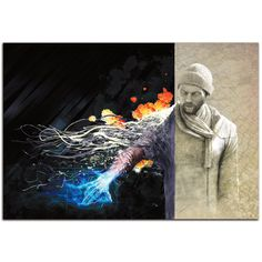 Ben Judd 'Ben Evolving' Urban Man Science Fiction Art on