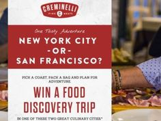 Creminelli Food Discovery Sweepstakes
