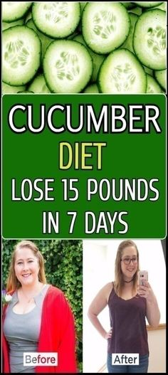 Lose 15 Pounds in 2 Weeks With This Amazing Cucumber Diet Healthy Diet Plans, Healthy Weight, Healthy Habits, Losing Weight Tips, How To Lose Weight Fast, Weight Loss Tips, Detox Diet For Weight Loss, Weight Lifting, Lose Weight In A Week