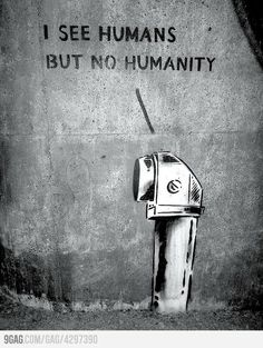 I see humans But no