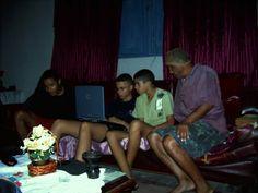 Leon, Davy, Pablo, Mauro - casa de Geraldo 2004