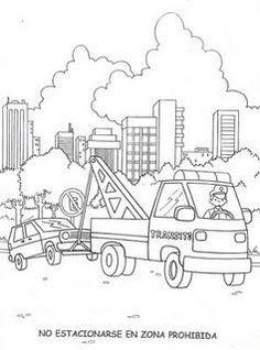 DIBUJOS PARA COLOREAR DE EDUCACIÓN VIAL Recycled Crafts, Rue, Transportation, Kindergarten, Diagram, Paper Crafts, Teaching Ideas, Vehicle, Natural