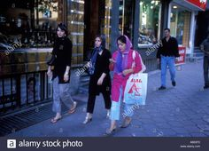 Download this stock image: Fashionable women northern Tehran Iran 2005 ©Mark Shenley - ABE8T0 from Alamy's library of millions of high resolution stock photos, illustrations and vectors.