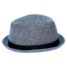 bd4d377b31a03c Gray Herringbone Fedora with Black Band -- Born To Love Clothing - Baby  Hats,