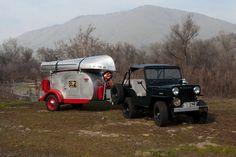 1947 Kenskill Teardrop  Model 10 #223  [1953 Willys Jeep  Model CJ3B tow]