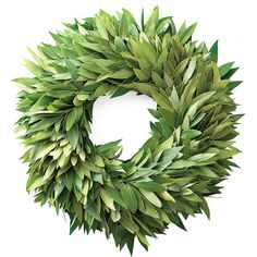 Bay Leaf Wreath & Garland #WilliamsSonoma. When the leaves dry you can use them for cooking the rest of the year.