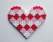 Valentines Day HEART perler beads