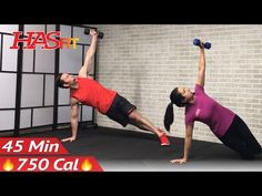 45 Minute HIIT Home Workout with Weights - Full Body HIIT Workout for Fat Loss & Strength Dumbbell - YouTube