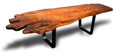 Custom Live Edge Slab Table by Scott Dworkin Designs at CustomMade.com