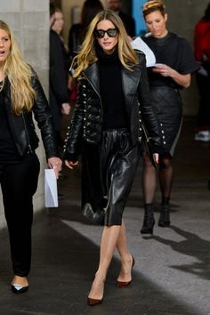 Olivia Palermo Seen at Preen By Thornton Bragazzi: Front Row - London Fashion Week AW14